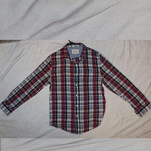 Just U RED WHITE BLUE PLAID LS Shirt